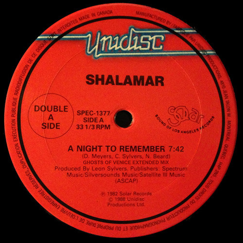 Shalamar - A Night To Remember (Ghosts Of Venice Extended Mix)