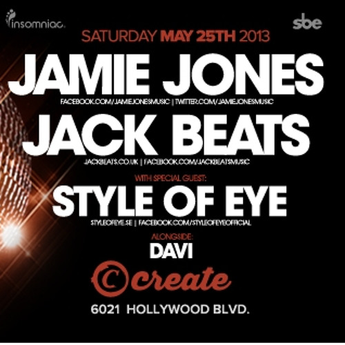 DAVI: Live at Create Nightclub w/ Jamie Jones [May 25, 2013]