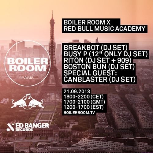Canblaster 45 min Boiler Room x Red Bull Studios Paris mix