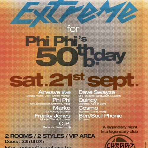 PHI-PHI @ PhiPhi's 50th Bday @ Cherry moon the 21/09/ 2013