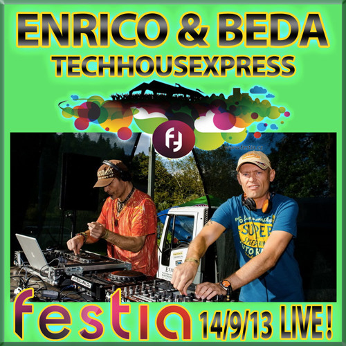 Enrico & Beda - Aka Techhousexpress - LIVE@Festia - Open Air Prague (14/9/2013)