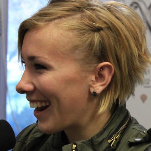 A victorious Caroline Buchanan in the 666 studio