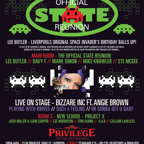 Lee Butlers Space invader Bday Old Skool Mash Up - 9th Nov Privilege - GET YE TICKETS ASAP