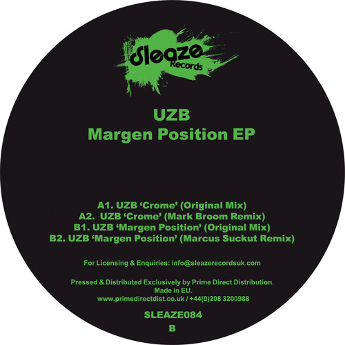 UZB - Margen Position EP (Mark Broom Remix & Markus Suckut Remix)