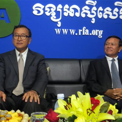 29-09-2013-Sam Rainsy and Kem Sokha on RFA