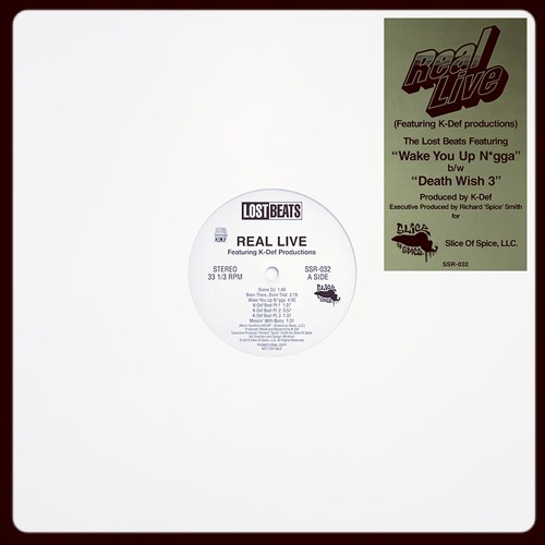 """Real Live (K-Def) - Lost Beats EP - 12"""" SAMPLER (PREVIOUSLY UNRELEASED)"""