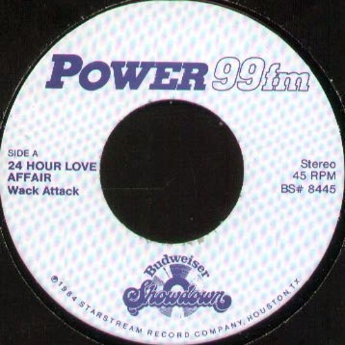 """Wack Attack - 24 Hour Love Affair (Original 7"""" Bud)"""