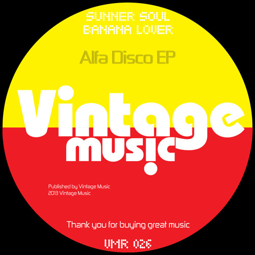 "Sunner Soul presents ""Alfa Disco"" [new disco series] OUT NOW!"