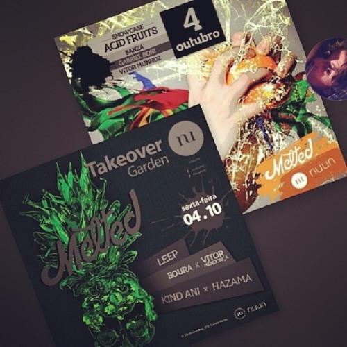 """Live - Kind Ani/Lucas Arr """"B2B""""  Hazama  - MELTED / Garden Nuun *  Cuiabá-MT 04.10.13"""
