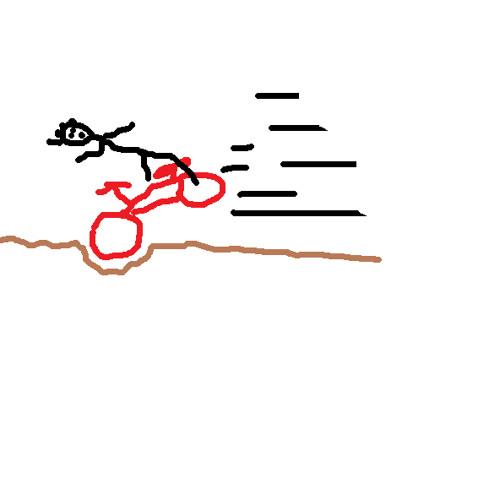 me caí de la bicicleta