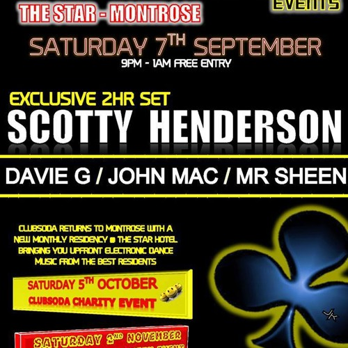Clubsoda Events @ The Star Montrose Scotty Henderson 2 Hour Set 07.09.2013