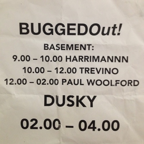 Harrimannn @ BuggedOut! presents Dusky (FREE DOWNLOAD)