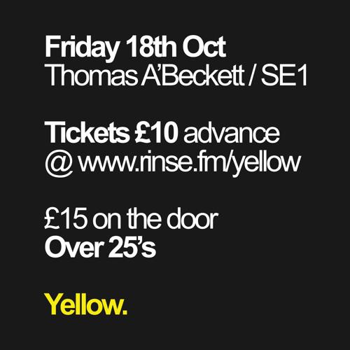 Yellow / Over 25's < 18th Oct @ Thomas A'Beckett // DJ Aplus Promo Mix - Vocals