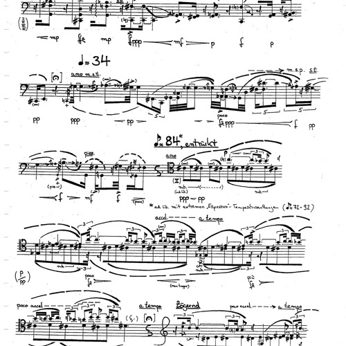 """misterioso"" - for solo cello"