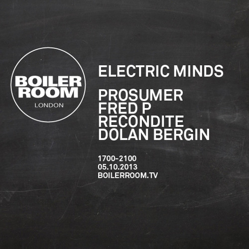Prosumer 60 min Boiler Room mix