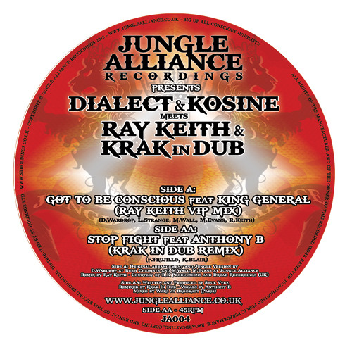 """Stop Fight ft Anthony B (Krak In Dub Remix) - Side AA: Out Now on Limited Edition 12""""Vinyl"""