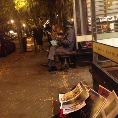 Street Musician at Hattie's Hat Restaurant