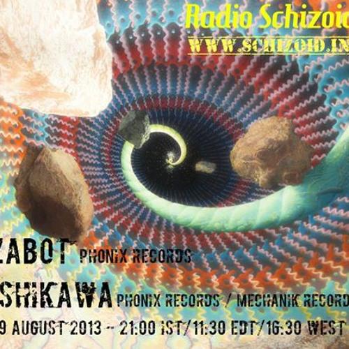 Zabot Live Set on Radio Schizoid - Aug 2013