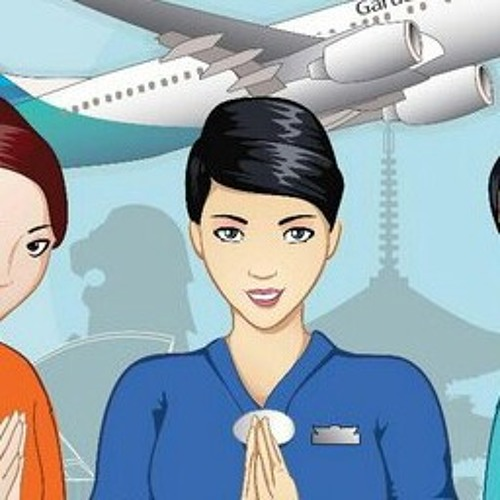 Welcome Announcement On Board Garuda Indonesia by risakurniaw | Free