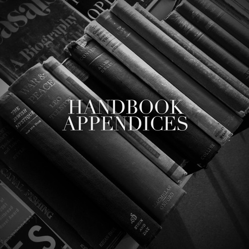 Handbook - Sweet Coral (@HandbookYork) #Appendices Out Now!