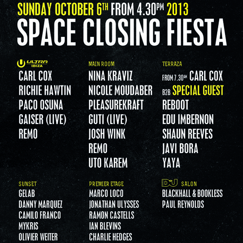 Javi Bora @ Space Ibiza Closing Party 2013