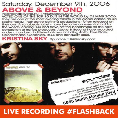 Kristina Sky Live @ Spundae (w/ Above & Beyond) (Circus, Los Angeles CA) [12-09-06]