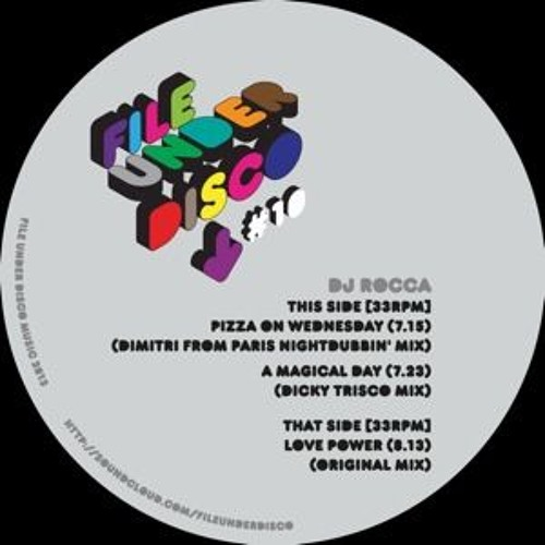 A1 - DJ ROCCA - Pizza On Wednesday (Dimitri From Paris Nightdubbin' Mix) - CLIP