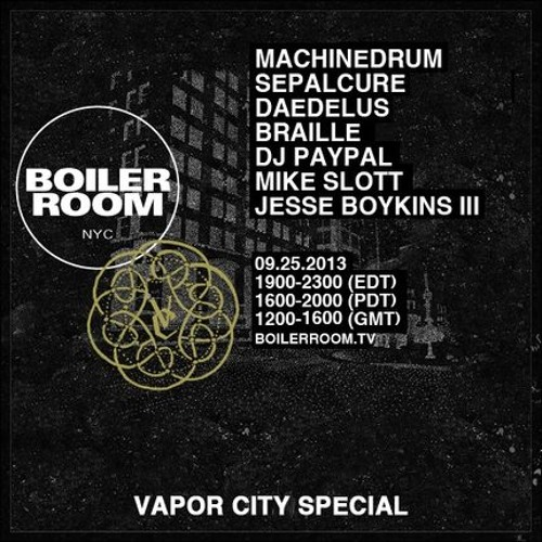 Sepalcure LIVE in the Boiler Room