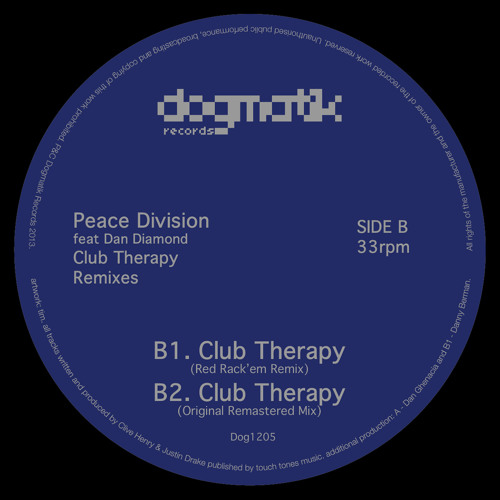 [Dog1205] Peace Division - Club Therapy (Red Rack'em Remix)
