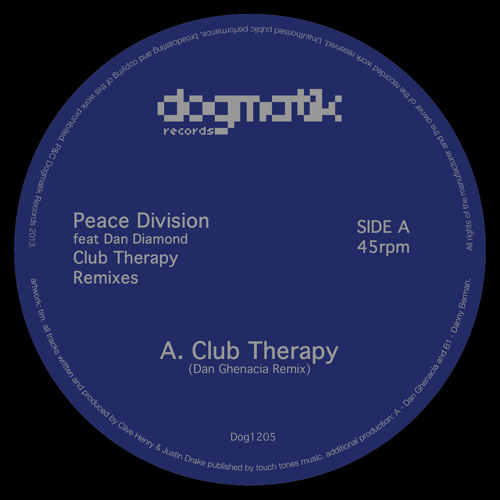 [Dog1205] Peace Division - Club Therapy (Dan Ghenacia Remix)
