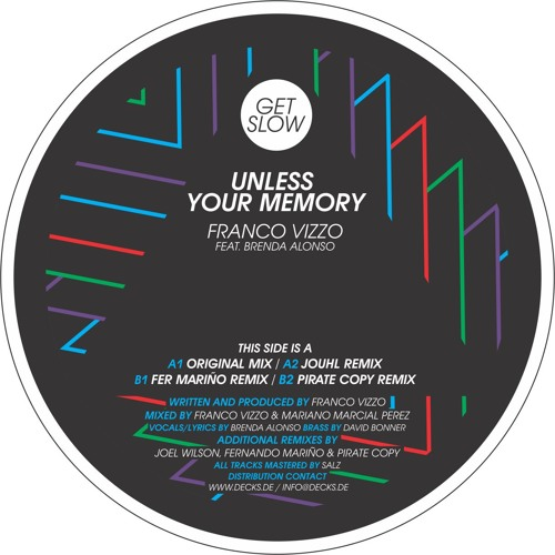 GSR 005   A2 - Franco Vizzo ft. Brenda Alonso - Unless Your Memory (Jouhl Remix) [128kbps preview]