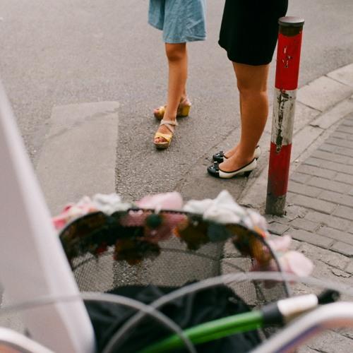 On a bike in Shanghai