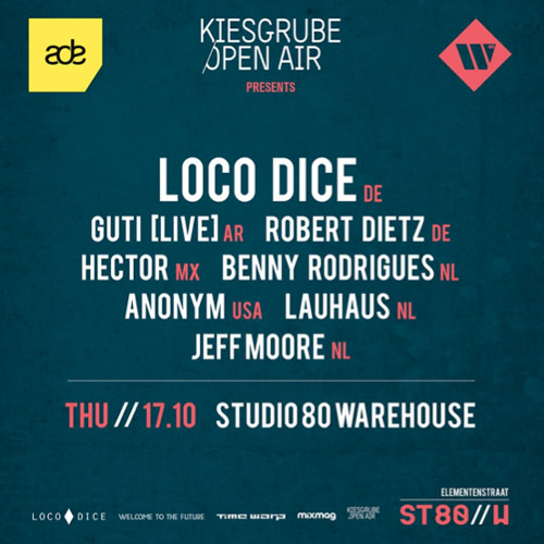 Benny Rodrigues @ Loco Dice & Friends, Studio 80 Warehouse, Amsterdam (17-10-2013)