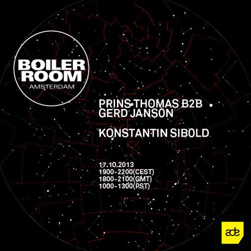 Prins Thomas B2B Gerd Janson 120 min Boiler Room mix