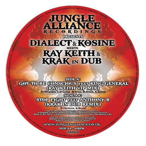 "JA004-Side AA - Stop Fight ft Anthony B (Krak In Dub Rmx) - Soundclip - Out Now on 12"" Vinyl"