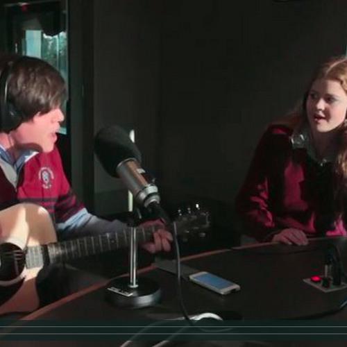 Tash and Michael in the ABC Shepparton studios