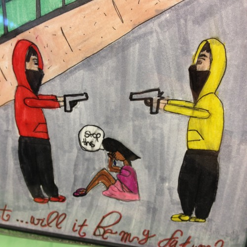 Daley Academy students illustrate effects of gun violence