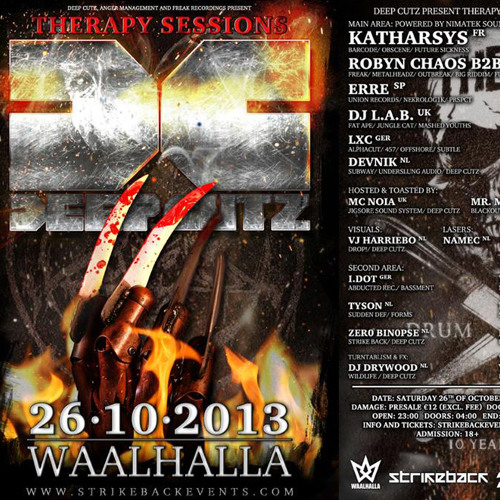 LXC at Therapy Session at Waalhalla Nijmegen, Oct 26th 2013 (showreel, hit buy link for full set)