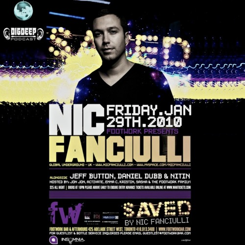 DigDeep Archive - Footwork Presents NIC FANCIULLI (Saved Records) - January 29th, 2010