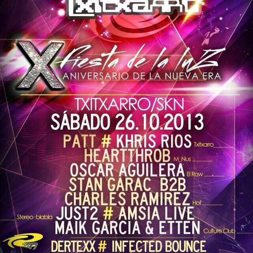 KHRIS RIOS (TXITXARRO,BLUM RECORDINGS) FIESTA DE LA LUZ 2013