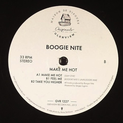 "GVR1227 — Boogie Nite — Make Me Hot EP w/Glenn Underground & Rahaan Remixes double 12"""