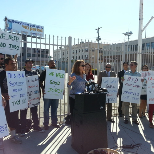 Community Groups Picket Outside Vehicle Manufacturer BYD Over Wage Violations