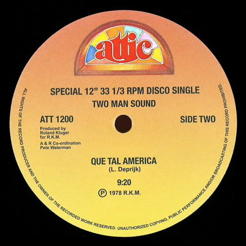 """Two Man Sound - Que Tal America (Dj """"S"""" Bootleg Extended Dance Re-Mix)"""