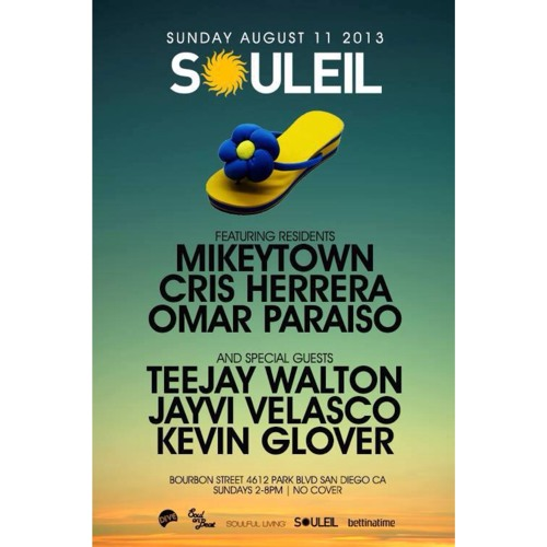 Jayvi Velasco live at Souleil San Diego - Sun, Aug 11, 2013