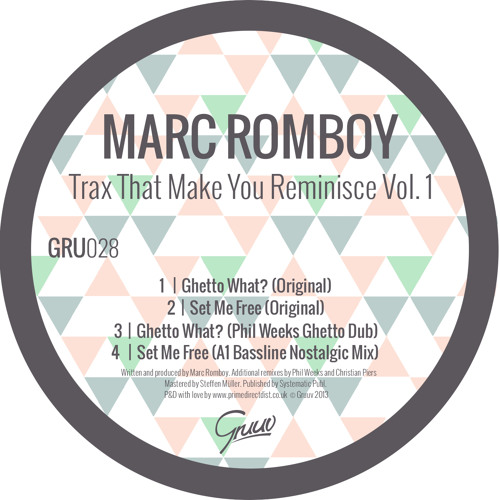 Marc Romboy - Ghetto What? (Phil Weeks Ghetto Dub)