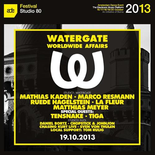 Ruede Hagelstein & Matthias Meyer @ Watergate X Suol - ADE Special   Studio 80 (19  -  2013)