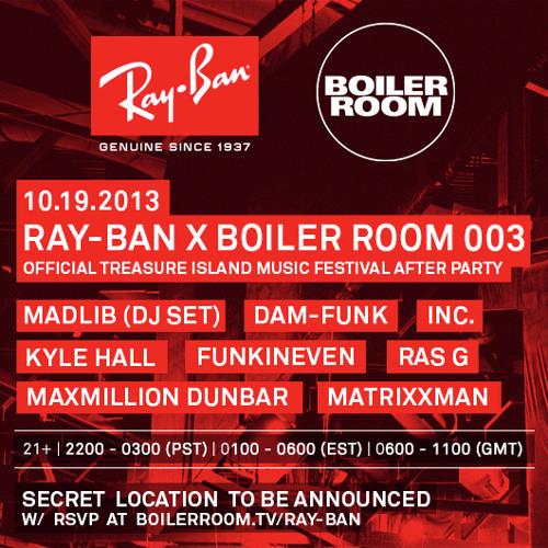 Madlib DJ Set @ Ray-Ban x Boiler Room TIMF Afterparty