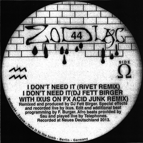 Dungeon Acid - I Don't Need It (Rivet Remix)