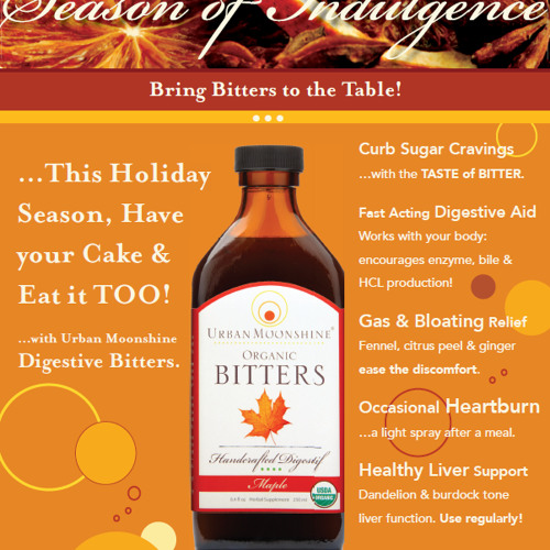 Bitters for the Holiday Season of Indulgence, by Guido Masé at Urban Moonshine