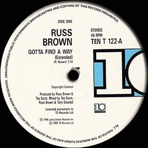 Find A Way   -    Russ Brown    Gg's discofied edit